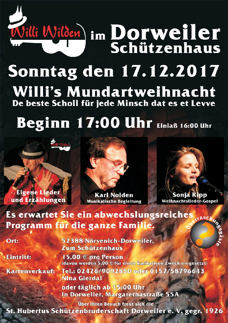 V3-Willi Wilden in Dorweiler Plakat 11-2017